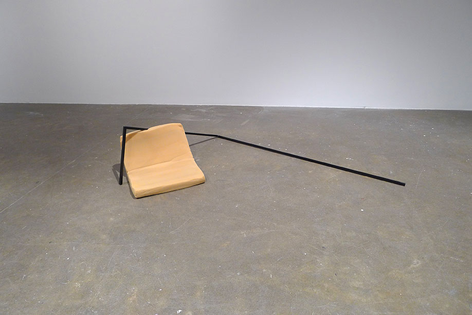 <b>Title: </b>Untitled (Cushion and Square Steel Tubing)<br /><b>Year: </b>2013<br /><b>Medium: </b>Square steel tubing and cushion<br /><b>Size: </b>45 x 180 x 120 cm