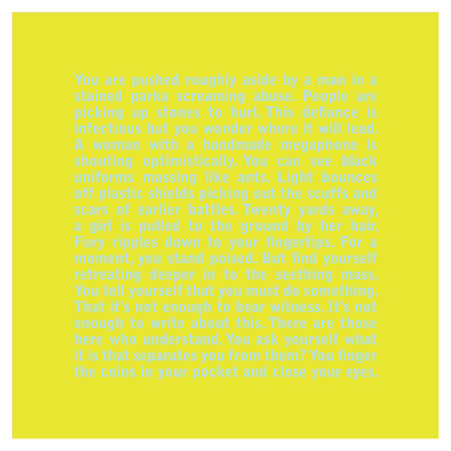 <b>Title:</b>Close Your Eyes<br /><b>Year:</b>2009<br /><b>Medium:</b>Silkscreen and digital print on paper<br /><b>Size:</b>80 x 80 cm
