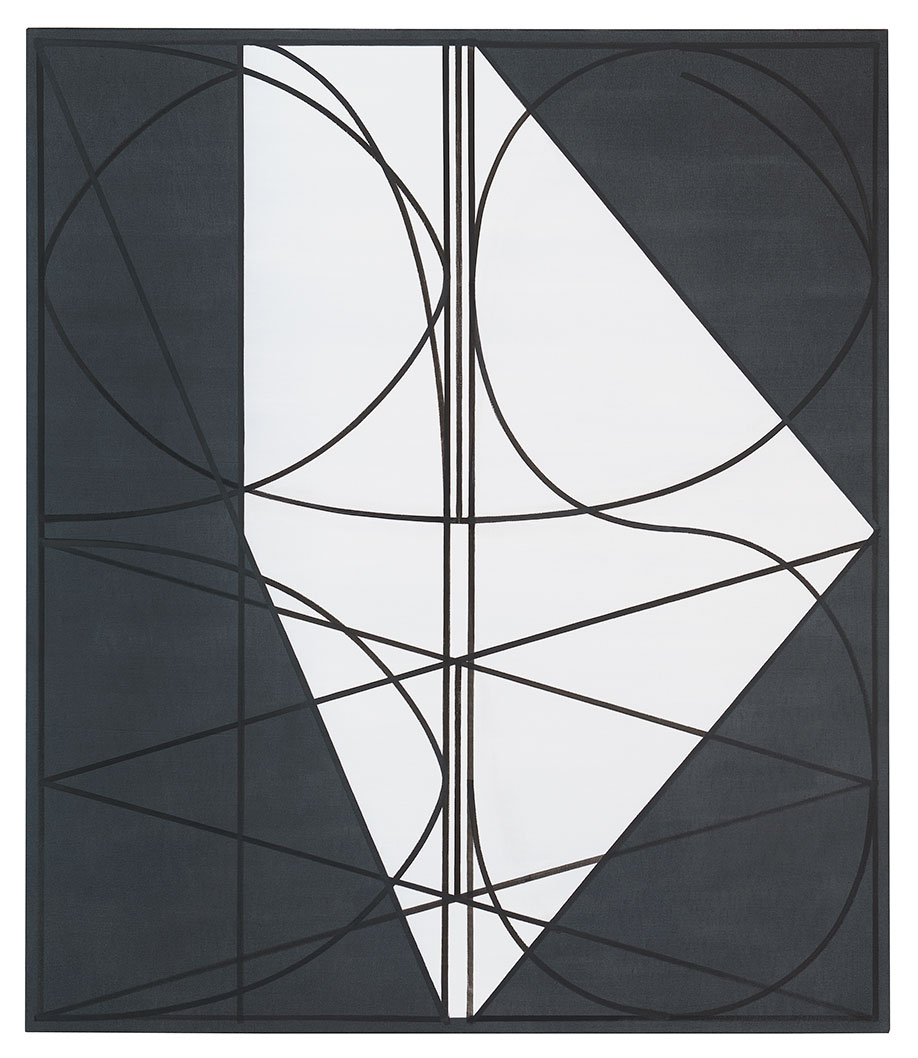 <b>Title:</b>Black Jeans (White Hexagon)<br /><b>Year:</b>2013<br /><b>Medium:</b>Oil on denim<br /><b>Size:</b>140 x 120 cm
