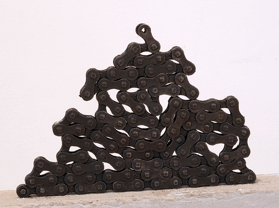<b>Title: </b>Dog Shit<br /><b>Year: </b>2011<br /><b>Medium: </b>Steel, grease and cement<br /><b>Size: </b>60 x 25 x 5 cm