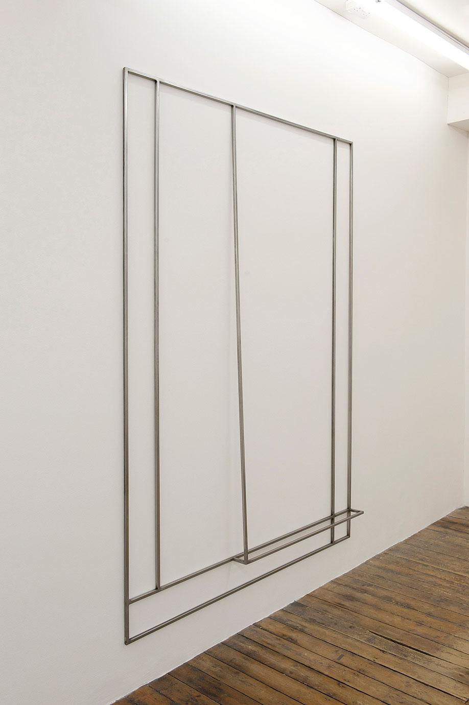 <b>Title:</b>Untitled (Margins)<br /><b>Year:</b>2011<br /><b>Medium:</b>Mild steel<br /><b>Size:</b>203 x 140 x 9 cm