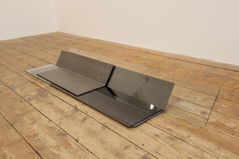 <b>Title:</b>Untitled<br /><b>Year:</b>2010<br /><b>Medium:</b>Mild steel, glass, spray paint, silicone<br /><b>Size:</b>115 x 30 x 18 cm