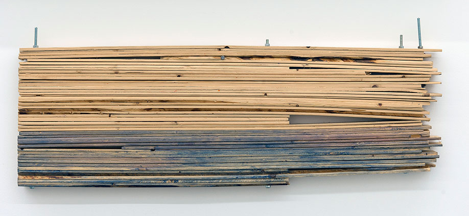 <b>Title:</b>Box Thing 9<br /><b>Year:</b>2015<br /><b>Medium:</b>Wood, metal, and paint<br /><b>Size:</b>34 x 86.5 x 4.5 cm