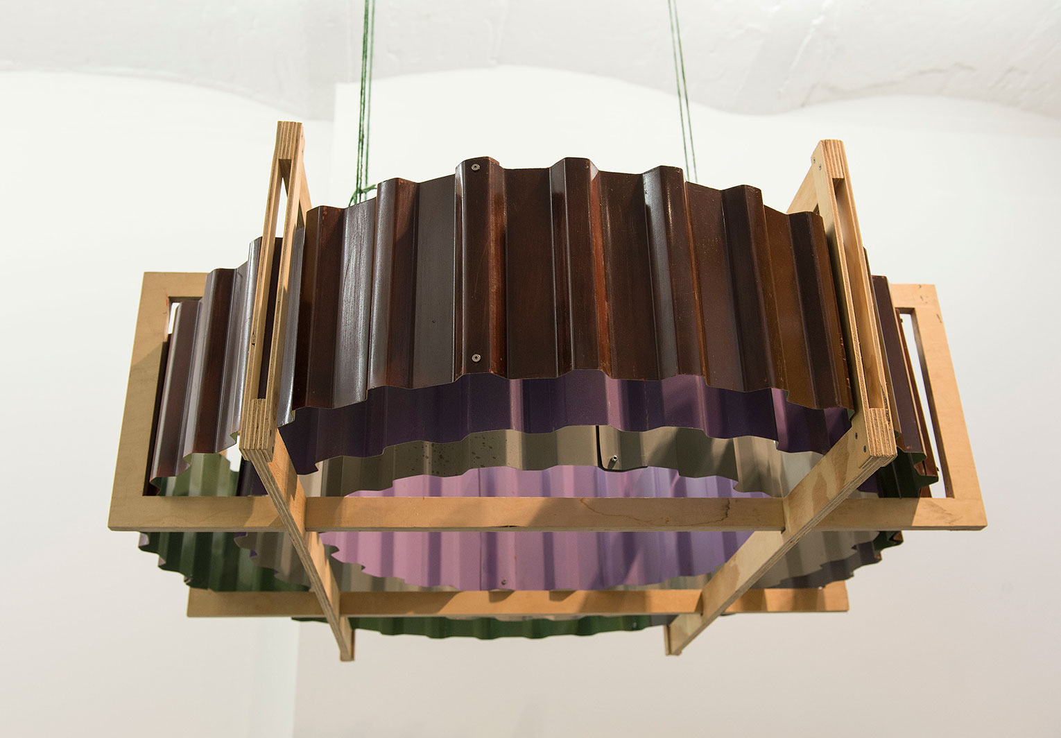 <b>Title:</b>To The Fore<br /><b>Year:</b>2014<br /><b>Medium:</b>Wood, metal, and paint<br /><b>Size:</b>40 x 114 x 114 cm