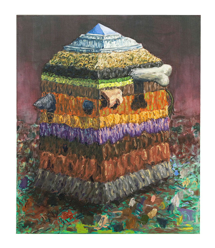 <b>Title: </b>Soil Profile<br /><b>Year: </b>2011<br /><b>Medium: </b>Oil on canvas<br /><b>Size: </b>95 x 80 cm
