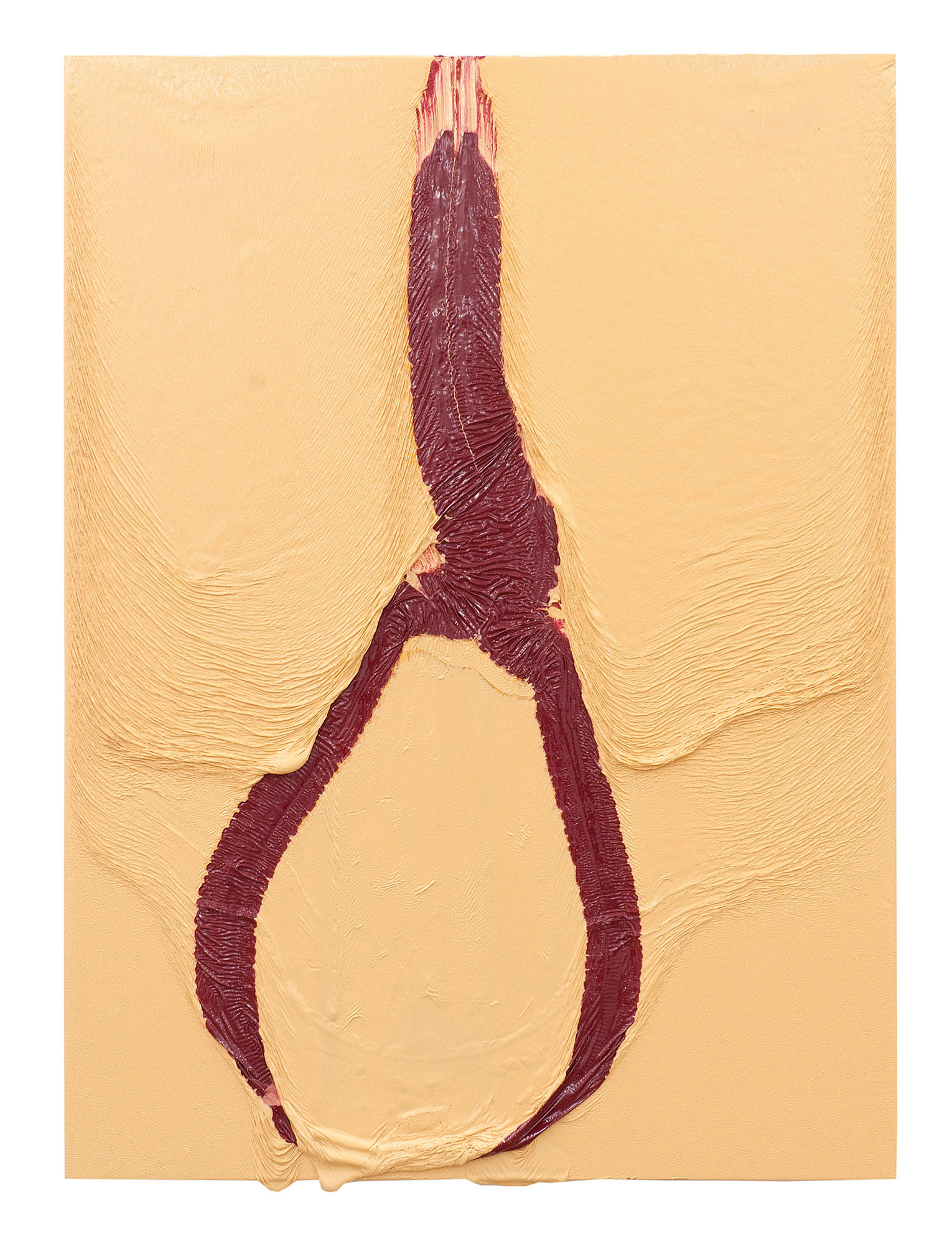 <b>Title: </b>Noose<br /><b>Year: </b>2011<br /><b>Medium: </b>Oil and gloss on MDF panel<br /><b>Size: </b>85 x 65 cm