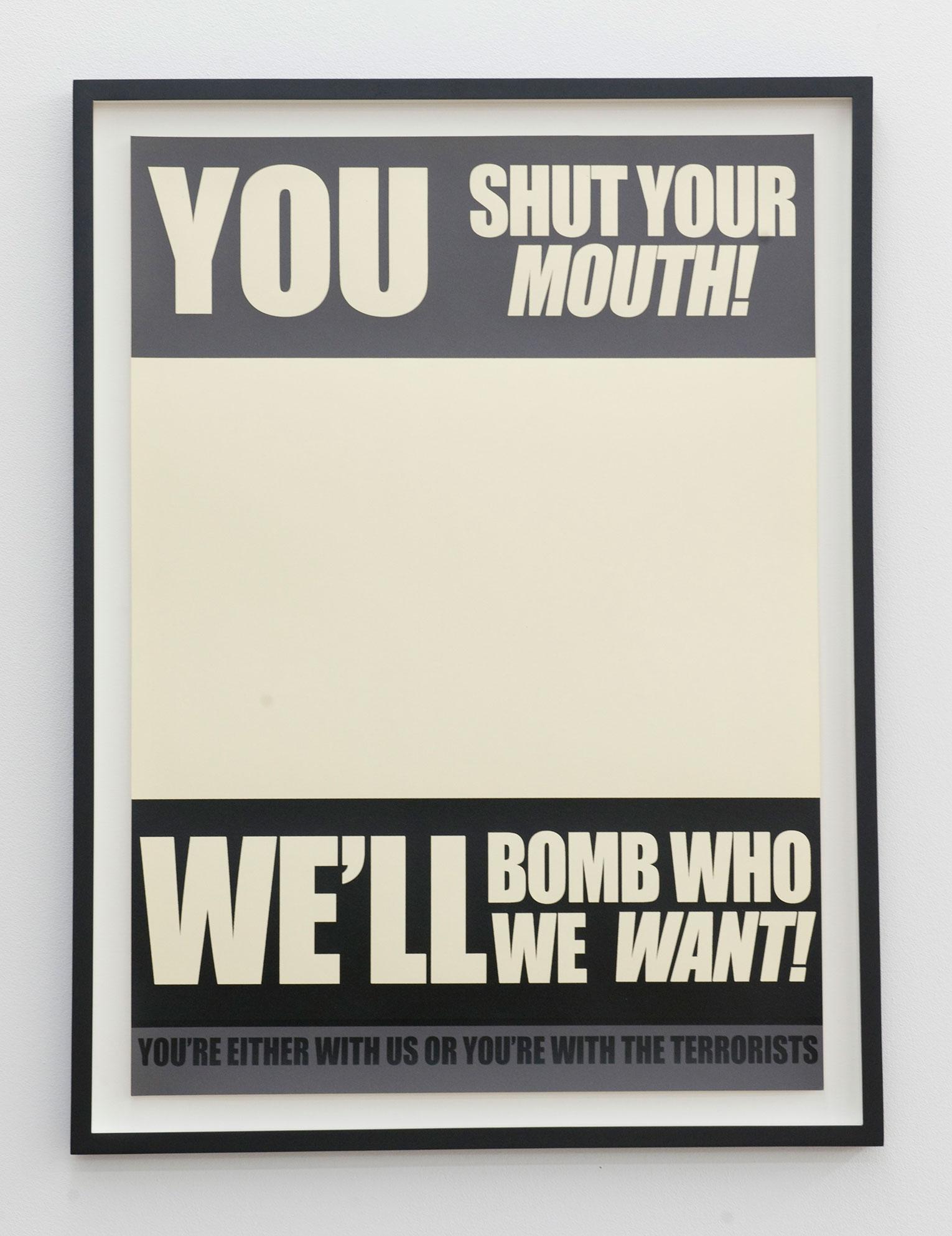 <b>Title:</b>Propaganda War Posters<br /><b>Year:</b>2010<br /><b>Medium:</b>Silkscreen print, framed<br /><b>Size:</b>50 x 70 cm