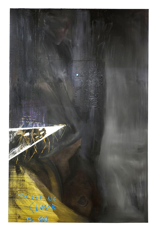 <b>Title:</b>Godhead<br /><b>Year:</b>2011<br /><b>Medium:</b>Oil on canvas<br /><b>Size:</b>274.5 x 177 cm
