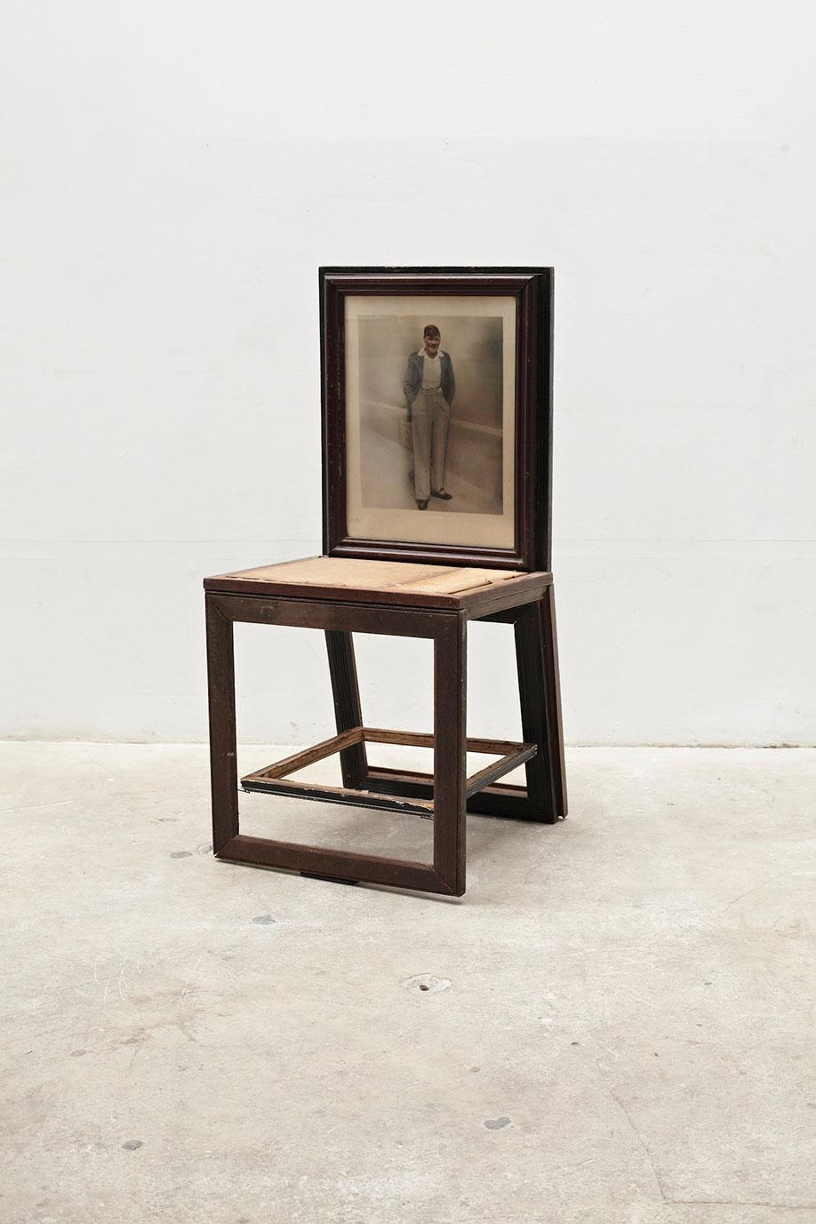 <b>Title:</b>Maverick VIII<br /><b>Year:</b>2011<br /><b>Medium:</b>Found picture frames<br /><b>Size:</b>98 x 46 x 48 cm