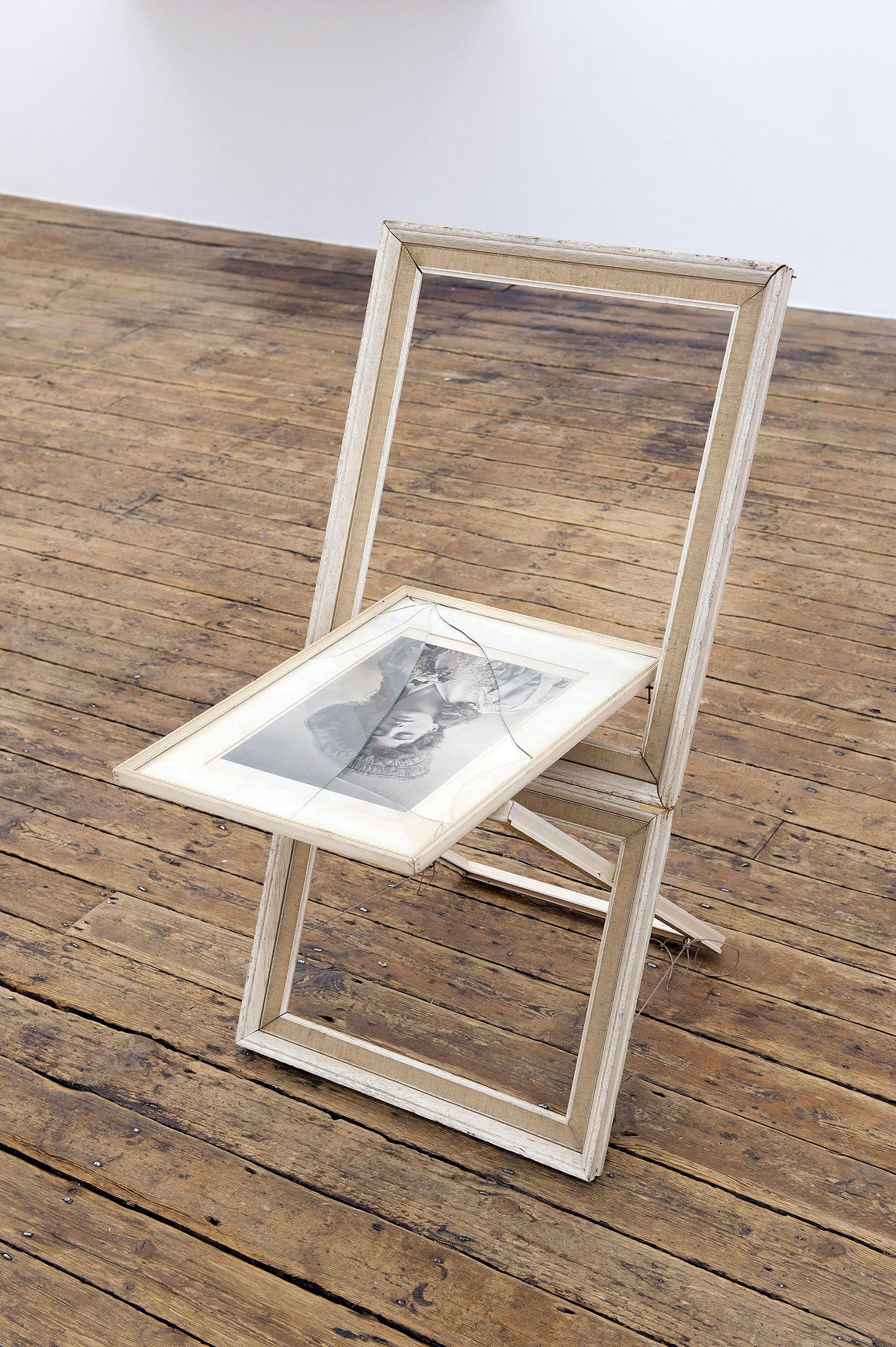 <b>Title:</b>Maverick XV<br /><b>Year:</b>2011<br /><b>Medium:</b>Antique and found picture frames<br /><b>Size:</b>82 x 47 x 44 cm