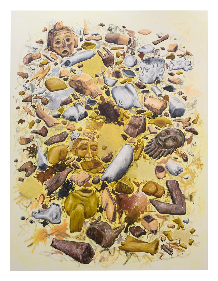 <b>Title:</b>Broken Men<br /><b>Year:</b>2010<br /><b>Medium:</b>Oil on canvas<br /><b>Size:</b>225 x 195 cm