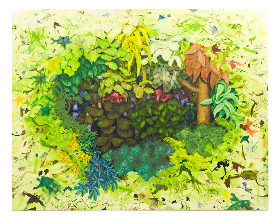 <b>Title: </b>Kudzu<br /><b>Year: </b>2009<br /><b>Medium: </b>Oil on canvas<br /><b>Size: </b>165 x 210 cm