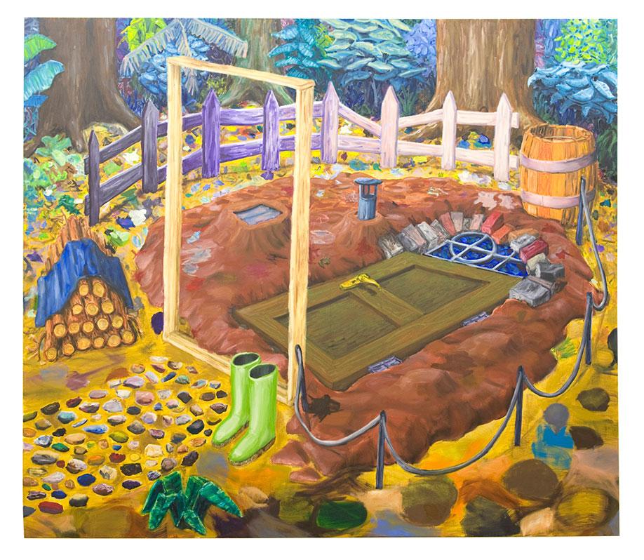 <b>Title:</b>Desperate Man's Retreat<br /><b>Year:</b>2008<br /><b>Medium:</b>Oil on canvas<br /><b>Size:</b>195 X 225 cm