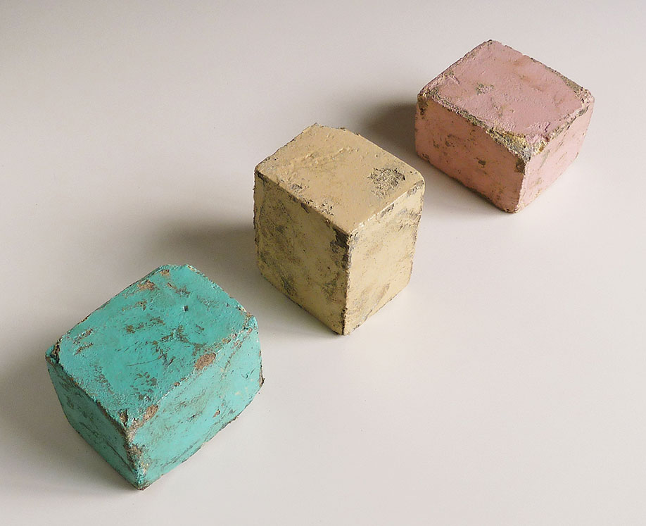 <b>Title:</b>Small Blocks, by Ana Genovés<br /><b>Year:</b>2011<br /><b>Medium:</b>Polystyrene, cement, and paint<br /><b>Size:</b>Variable dimensions (each 9 x 10 x 12 cm)