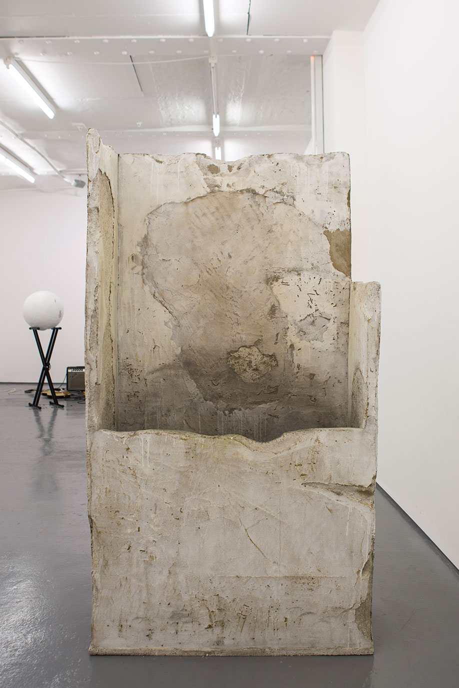 <b>Title: </b>Concrete Container, by Ana Genovés<br /><b>Year: </b>2015<br /><b>Medium: </b>Polystyrene and cement<br /><b>Size: </b>92 x 170 x 37 cm