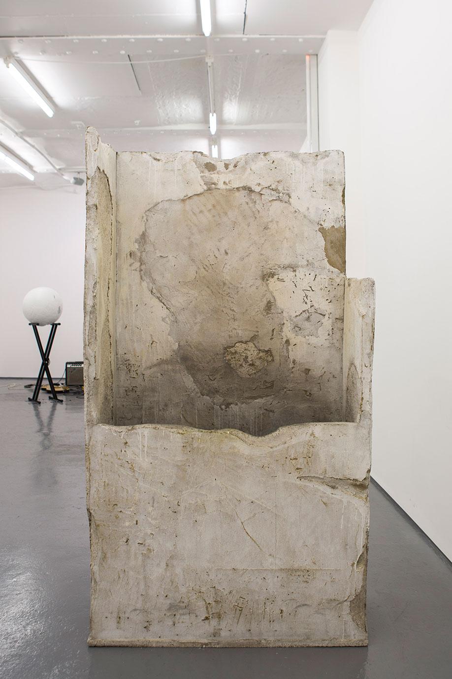 <b>Title:</b>Concrete Container, by Ana Genovés<br /><b>Year:</b>2015<br /><b>Medium:</b>Polystyrene and cement<br /><b>Size:</b>92 x 170 x 37 cm