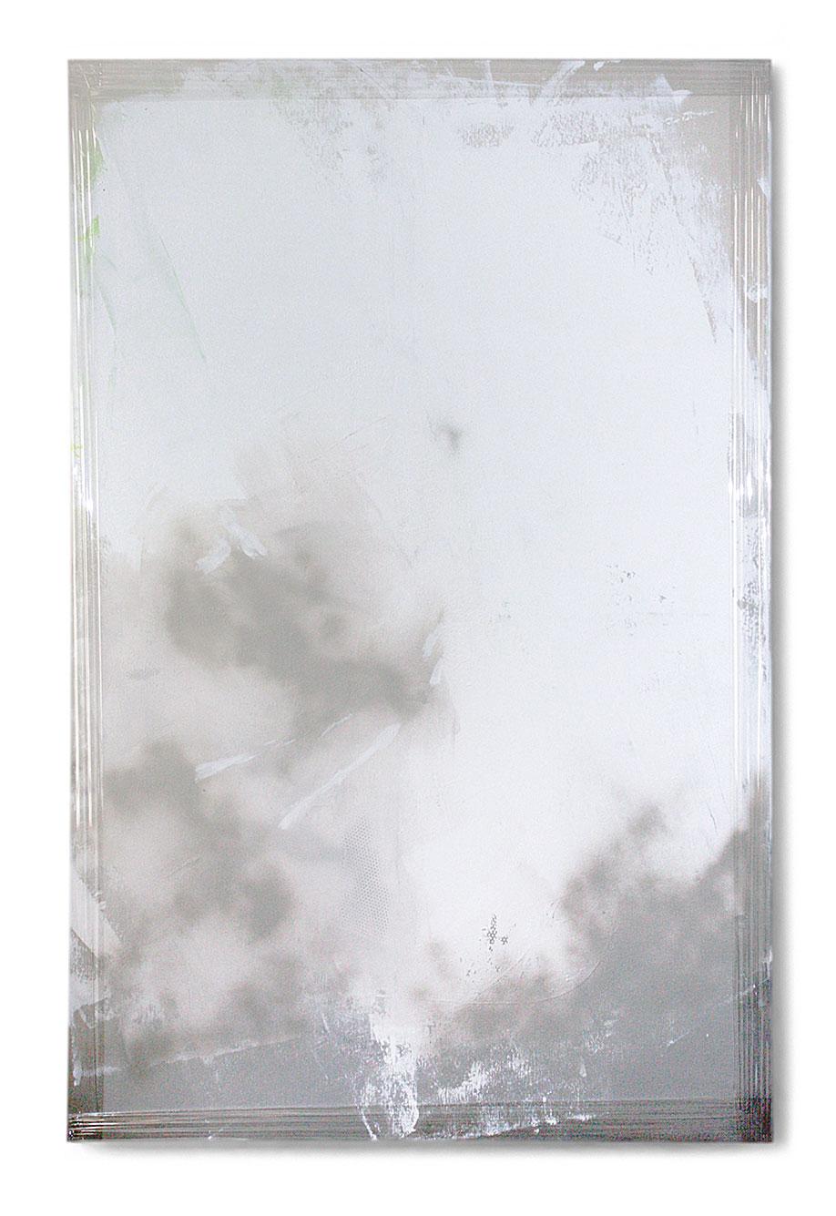 <b>Title:</b>131002<br /><b>Year:</b>2013<br /><b>Medium:</b>Acrylic, lacquer, spray paint, and PE film on canvas<br /><b>Size:</b>185 x 130 cm