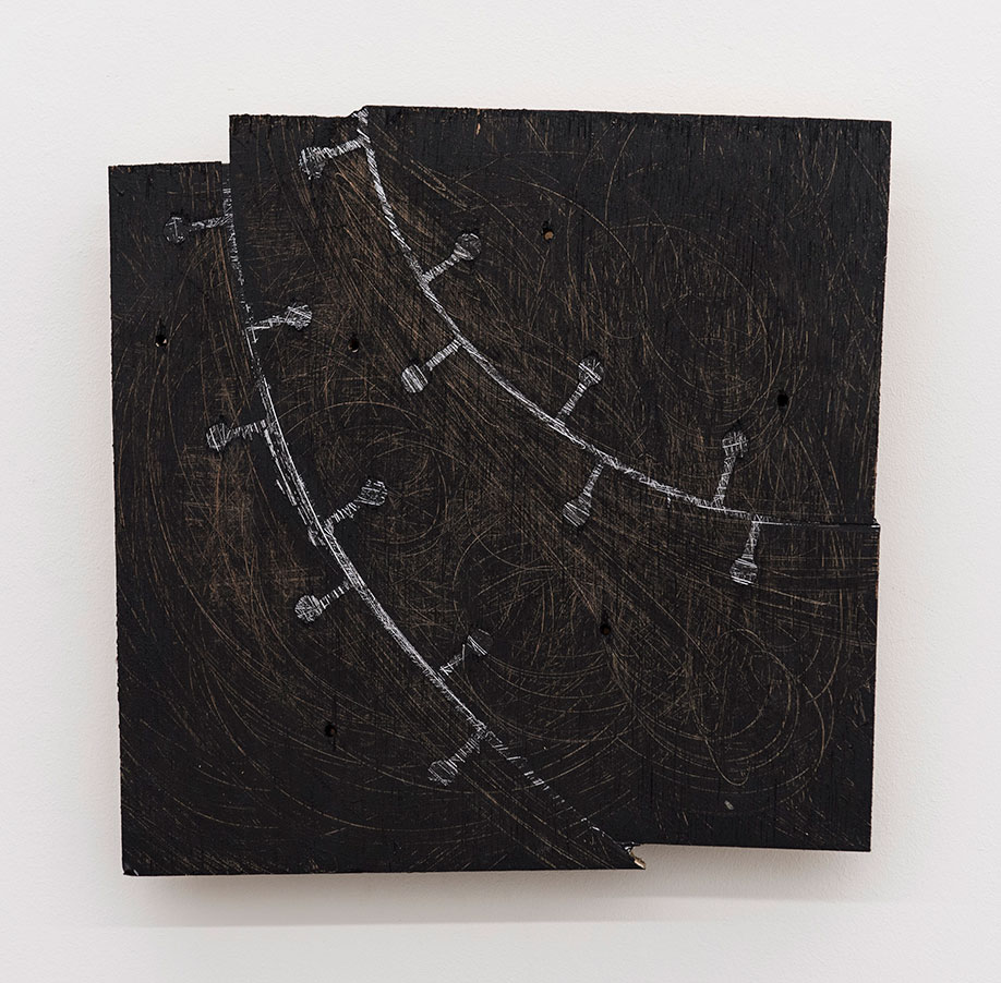 <b>Title: </b>Fall 876<br /><b>Year: </b>2016<br /><b>Medium: </b>Plywood and lead<br /><b>Size: </b>29 x 30 cm