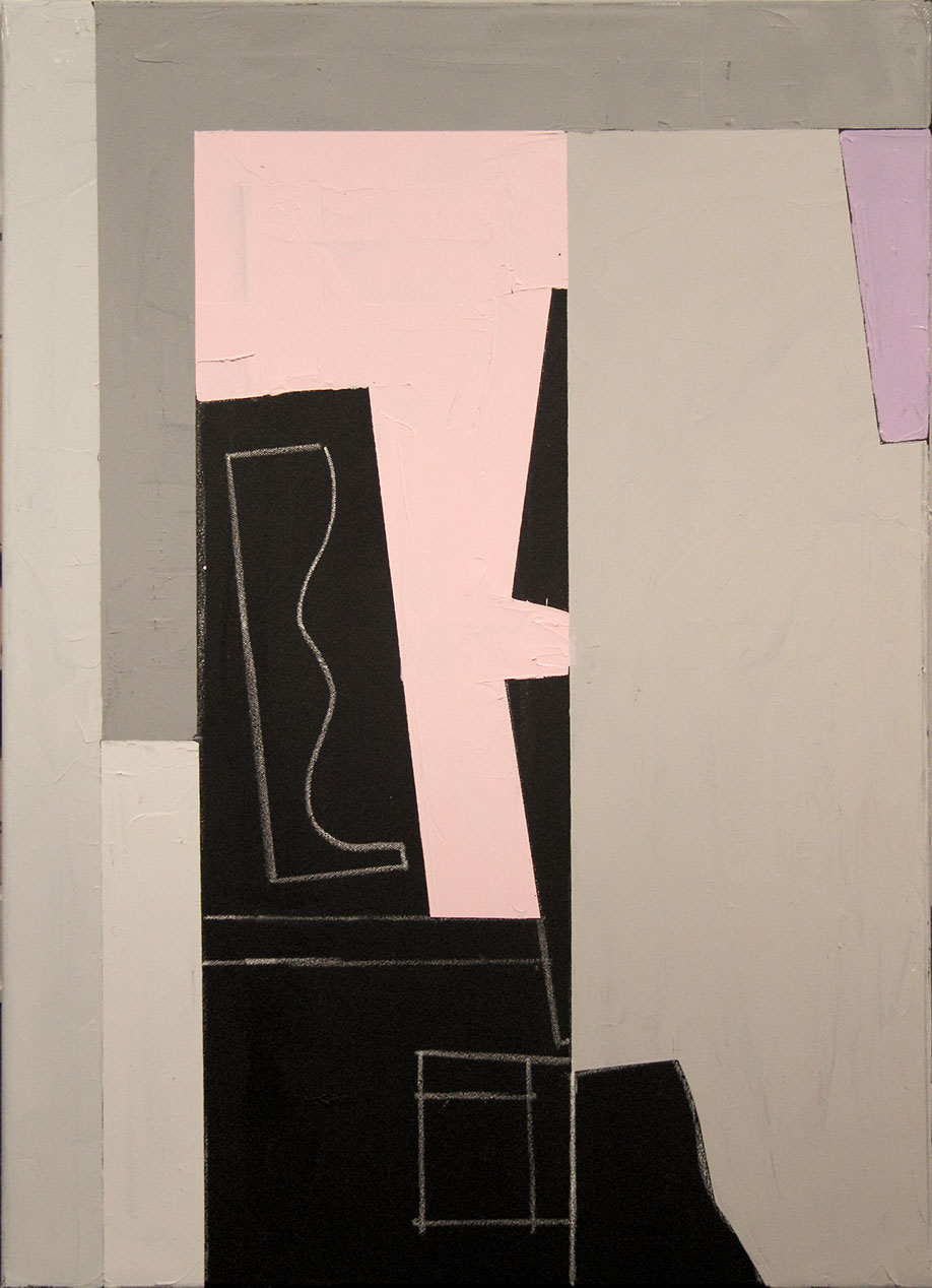 <b>Title:</b>Untitled<br /><b>Year:</b>2013<br /><b>Medium:</b>Oil, acrylic, and chalk on canvas<br /><b>Size:</b>90 x 65 cm