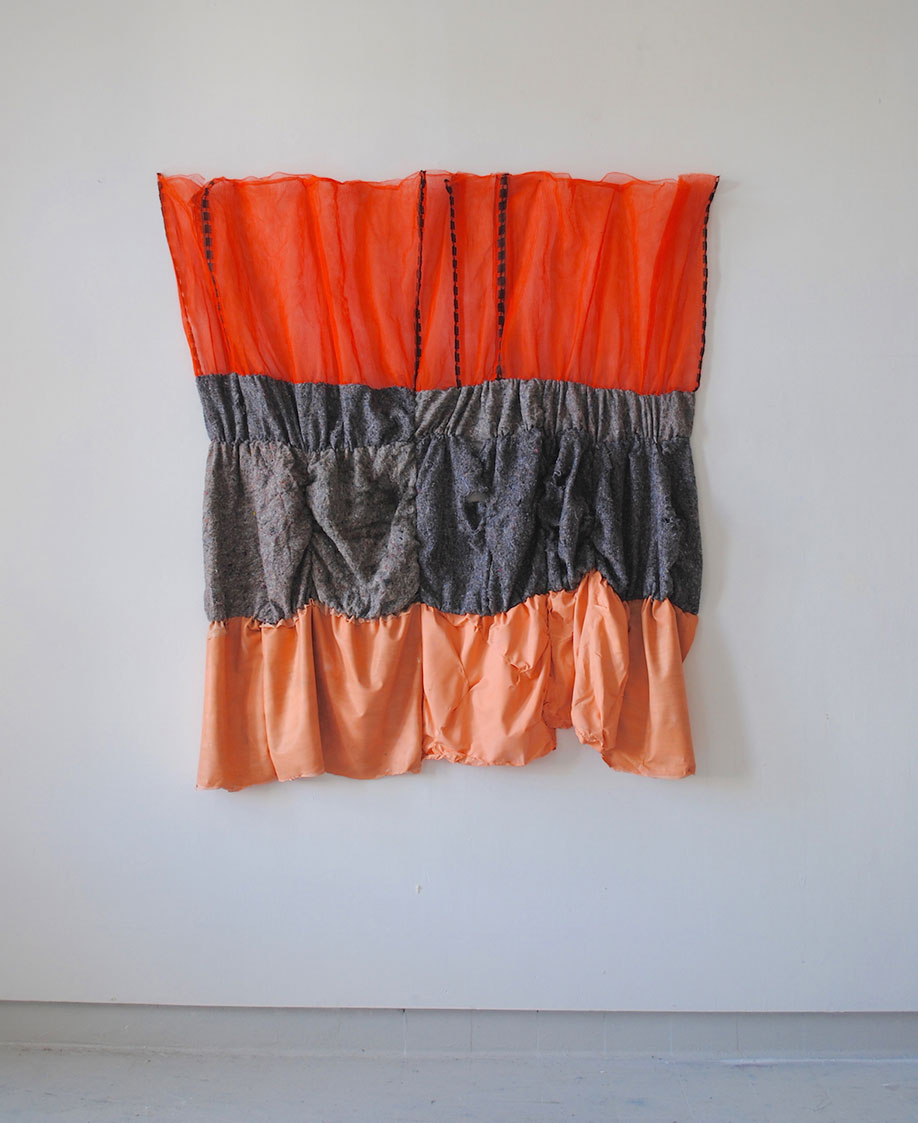 <b>Title: </b>Untitled<br /><b>Year: </b>2015<br /><b>Medium: </b>Polyester, latex, acrylic, and mixed recycled fibres<br /><b>Size: </b>188 x 156 cm