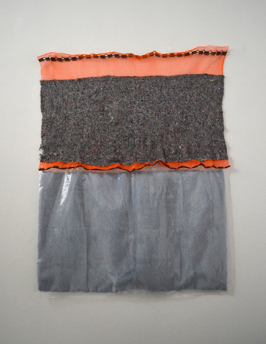 <b>Title: </b>Untitled<br /><b>Year: </b>2016<br /><b>Medium: </b>Mixed recycled fibres, polyester construction mesh, and faux fur<br /><b>Size: </b>132 x 100 cm