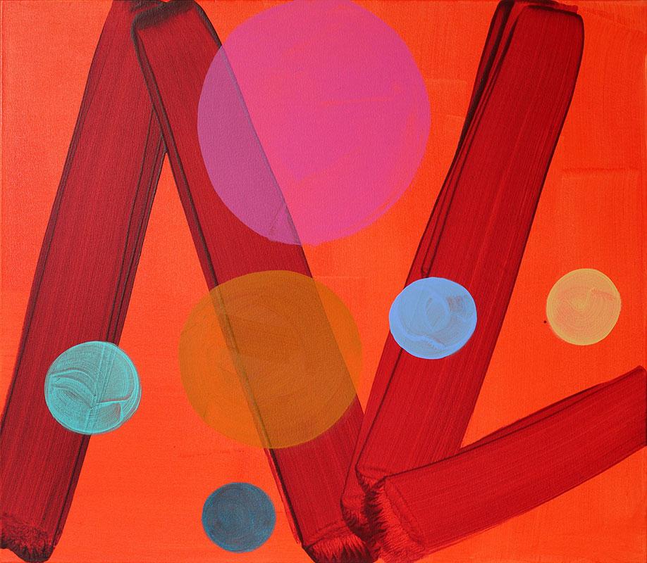 <b>Title:</b>Line Dancer<br /><b>Year:</b>2016<br /><b>Medium:</b>Acrylic on canvas<br /><b>Size:</b>70 x 80 cm