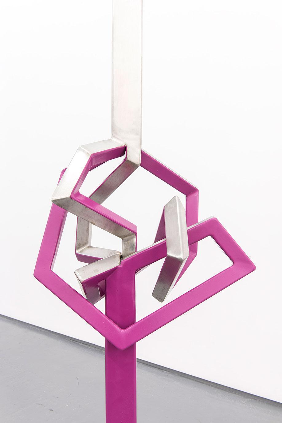 <b>Title:</b>Himalayan Balsam<br /><b>Year:</b>2013<br /><b>Medium:</b>Powder-coated stainless steel<br /><b>Size:</b>145 x 27 x 18 cm