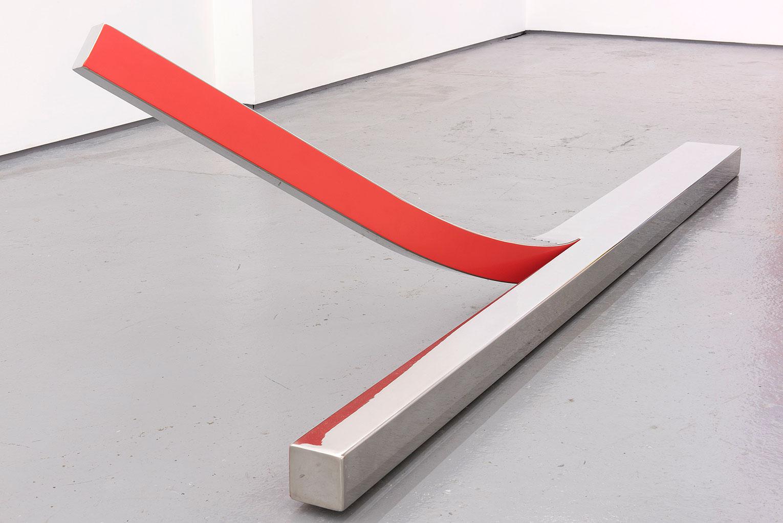 <b>Title:</b>Peeled<br /><b>Year:</b>2015<br /><b>Medium:</b>Polished and powder-coated stainless steel<br /><b>Size:</b>40 x 230 x 120 cm