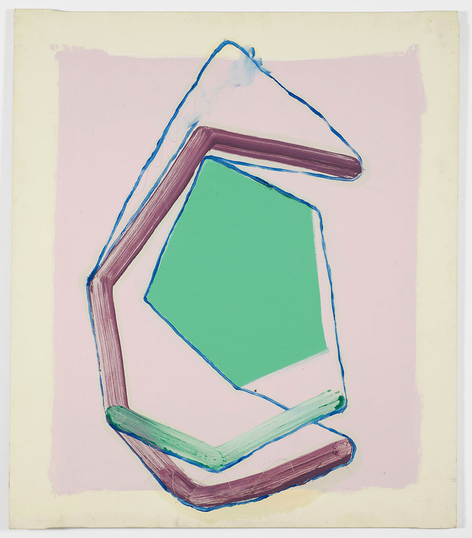 <b>Title:</b>Hanging Painting Green<br /><b>Year:</b>2015<br /><b>Medium:</b>Oil and emulsion on canvas<br /><b>Size:</b>129 x 112 x 2cm