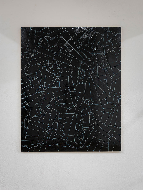 <b>Title:</b>Untitled (Link) 05<br /><b>Year:</b>2015<br /><b>Medium:</b>Acrylic, lacquer, vinyl, cardboard, wood<br /><b>Size:</b>150 x 120 cm