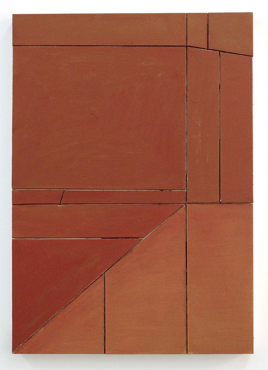<b>Title:</b>Untitled (Proximity) 25 <br /><b>Year:</b>2016<br /><b>Medium:</b>acrylic, vinyl, lacquer, cardboard, wood<br /><b>Size:</b>42 x 30 cm