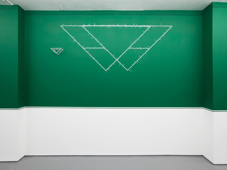 <b>Title:</b>Large Triangle<br /><b>Year:</b>2017<br /><b>Medium:</b>Chalk<br /><b>Size:</b>97cm x 237cm