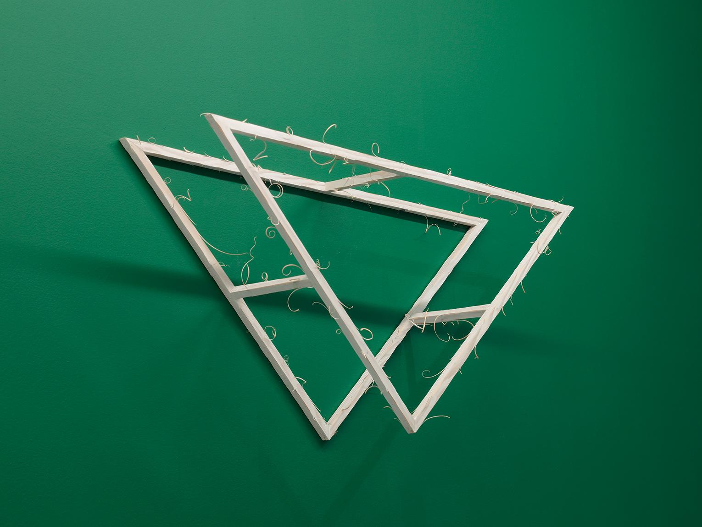 <b>Title:</b>Triangle No.4 From Lidded Box <br /><b>Year:</b>2017<br /><b>Medium:</b>Spruce wood and lime wax<br /><b>Size:</b>35 cm x 71cm x 16cm