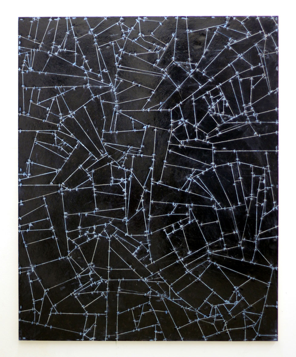 <b>Title:</b>Untitled (Link) 03<br /><b>Year:</b>2015<br /><b>Medium:</b>Acrylic, lacquer, vinyl, cardboard, wood<br /><b>Size:</b>150 x 120 cm