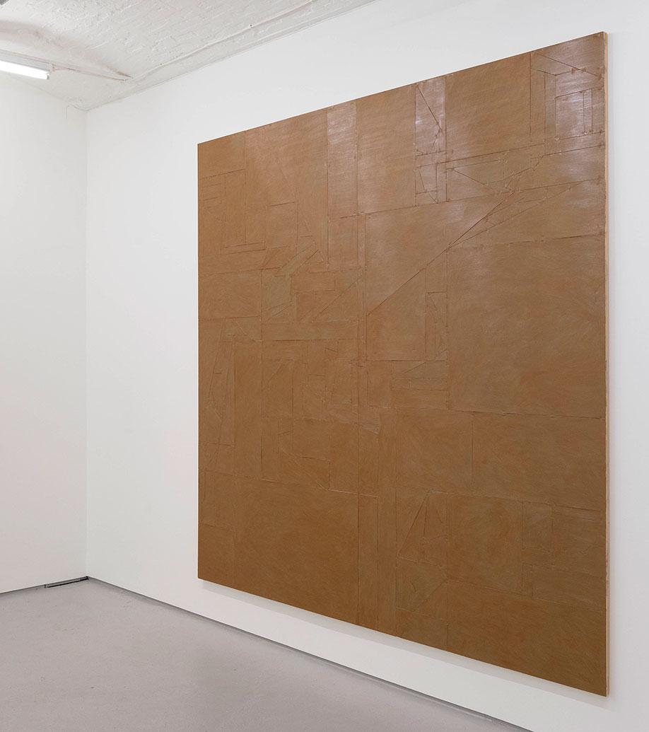 <b>Title:</b>Untitled (Vanish) 02<br /><b>Year:</b>2015<br /><b>Medium:</b>Acrylic, lacquer, vinyl, cardboard, wood<br /><b>Size:</b>240 x 240 cm (Diptych: 2 plates, 240 x 120 each)