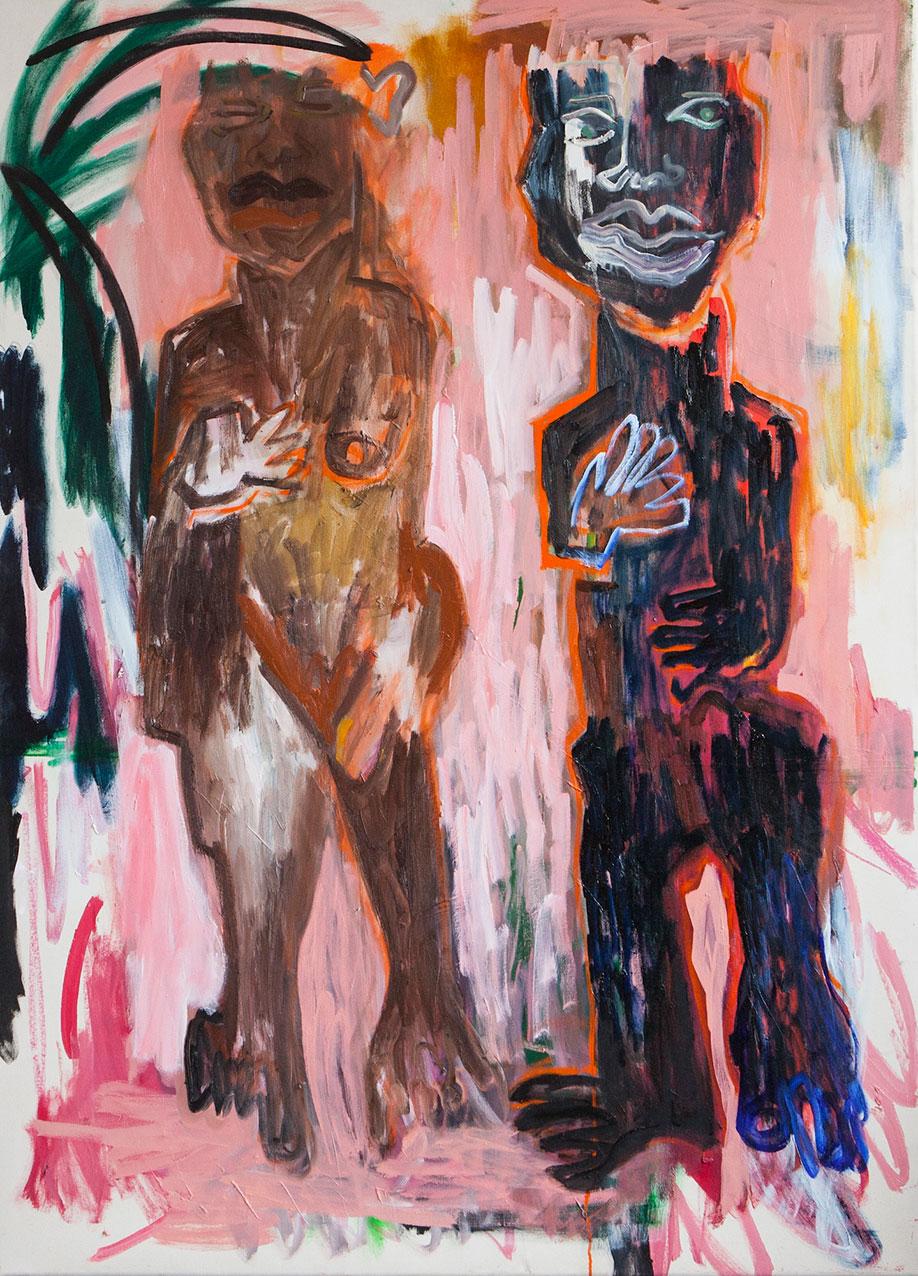 <b>Title:</b>Rub A Dub<br /><b>Year:</b>2015<br /><b>Medium:</b>Oil on Canvas<br /><b>Size:</b>115 x 160 cm