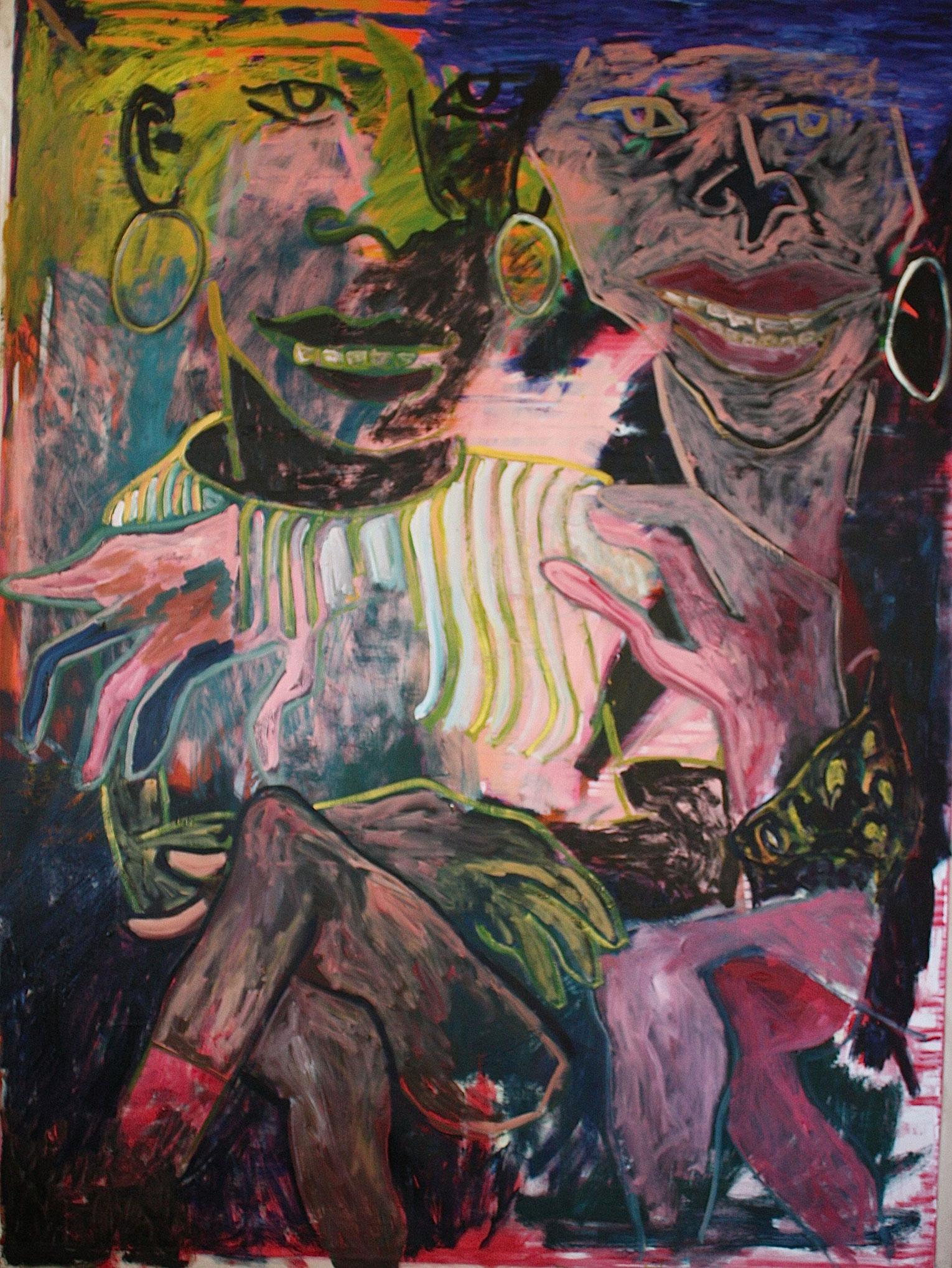 <b>Title:</b>Sisters<br /><b>Year:</b>2016<br /><b>Medium:</b>Oil on canvas<br /><b>Size:</b>182 x 242 cm