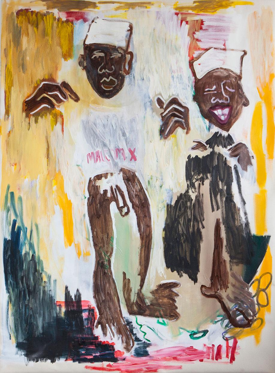 <b>Title:</b>Two Black Boys<br /><b>Year:</b>2015<br /><b>Medium:</b>Oil on canvas<br /><b>Size:</b>141 x 190 cm