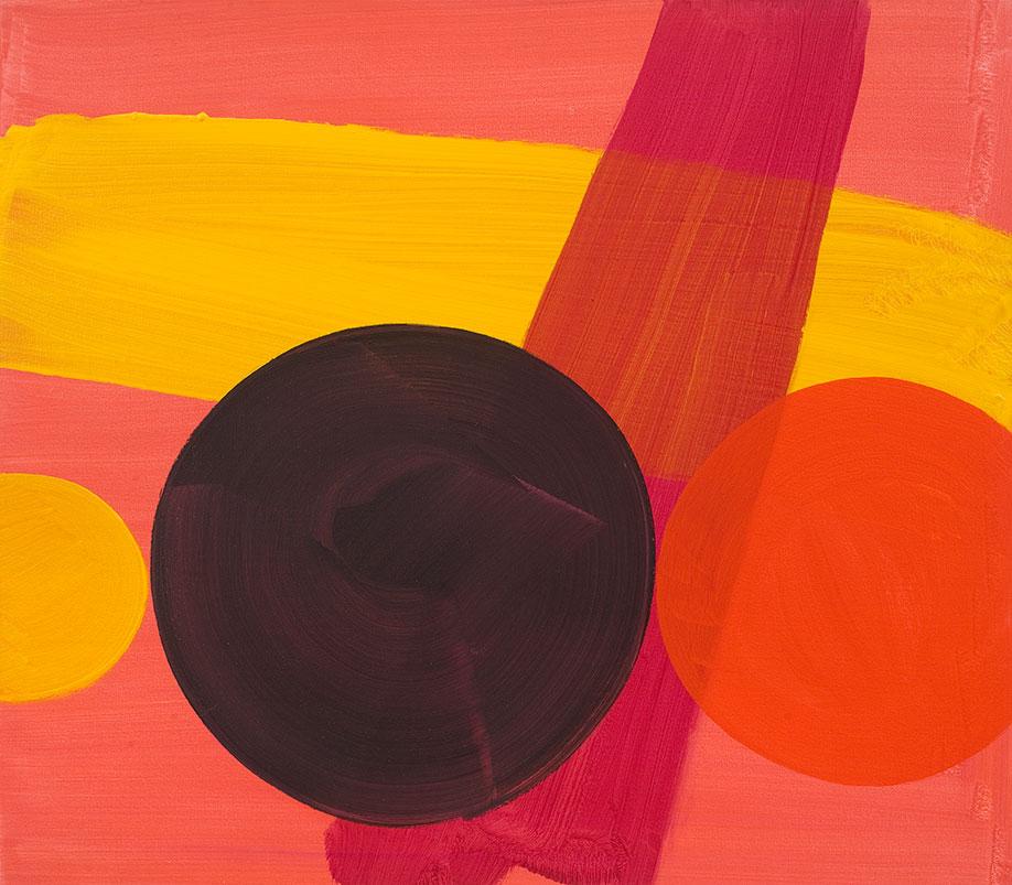 <b>Title:</b>Black Sun<br /><b>Year:</b>2017<br /><b>Medium:</b>Acrylic on canvas<br /><b>Size:</b>70 x 80 cm