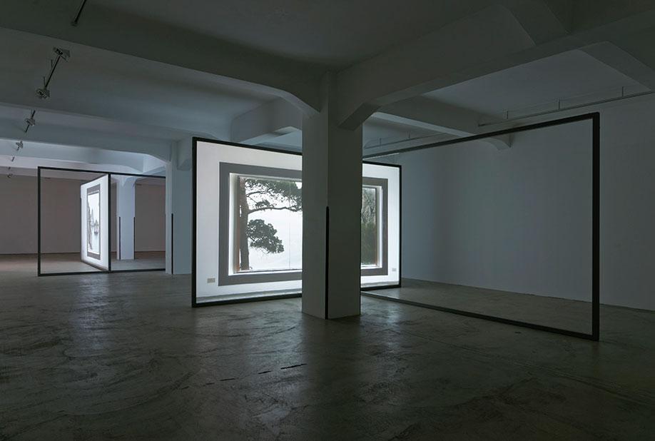 <b>Title:</b>Casa Malaparte (Window 01 & 04)<br /><b>Year:</b>2014<br /><b>Medium:</b>Projection, cf loop, sound, aluminium frame<br /><b>Size:</b>Dimensions variable