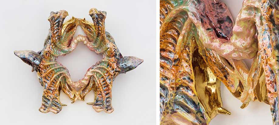 <b>Title:</b>Belladonna<br /><b>Year:</b>2017<br /><b>Medium:</b>Ceramic, glaze and luster<br /><b>Size:</b>; 22 x 18 x 7 inches