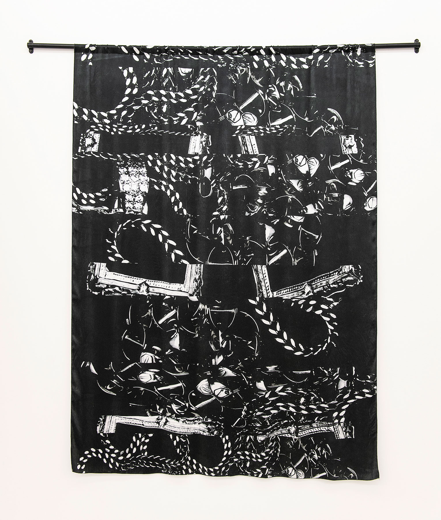 <b>Title: </b>Dubois X Fanon<br /><b>Year: </b>2018<br /><b>Medium: </b>Digital print on Silk Chiffon<br /><b>Size: </b>170 x 125 cm