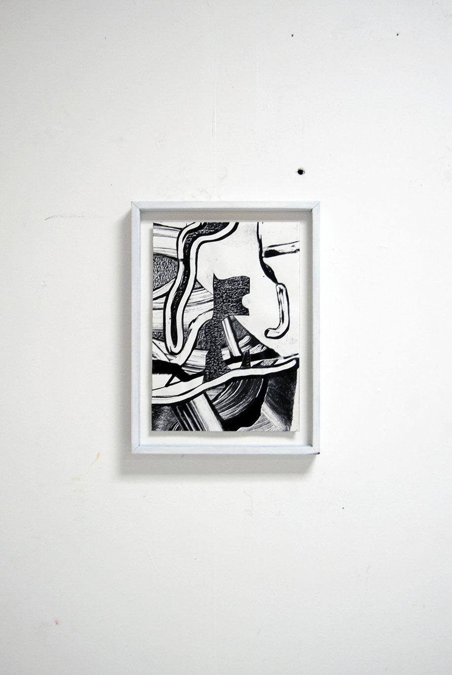<b>Title:</b>Untitled (black flag)<br /><b>Year:</b>2018<br /><b>Medium:</b>Acrylic and collage on paper<br /><b>Size:</b>21 x 29.7 cm