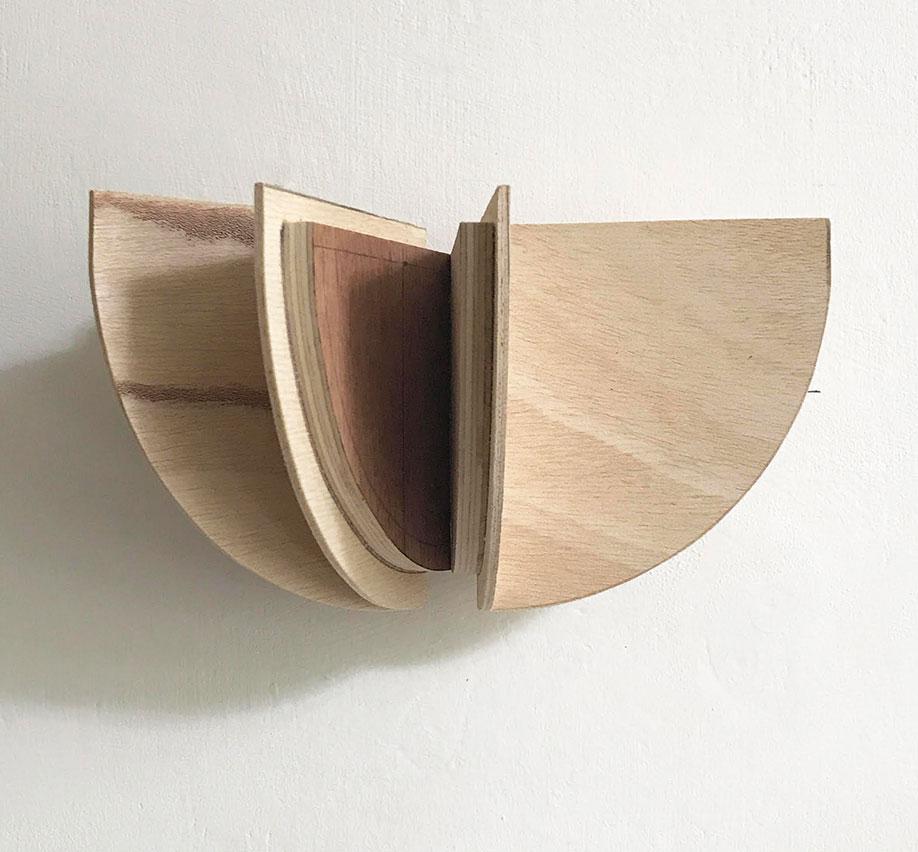 <b>Title:</b>Adam McGowan<br>Stakker<br /><b>Year:</b>2020<br /><b>Medium:</b>Pine & plywood parts<br /><b>Size:</b>12 x 22 x 12cm