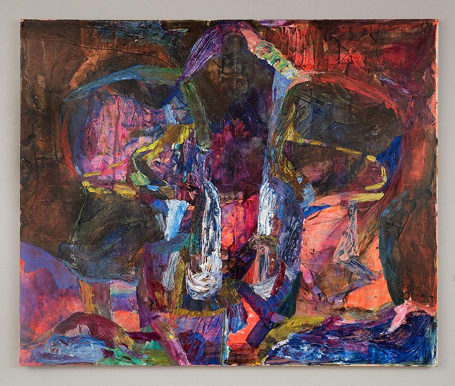 <b>Title:</b>Francesca Mollet<br>Maiden Mother Hag<br /><b>Year:</b>2020<br /><b>Medium:</b>Oil & acrylic on calico <br /><b>Size:</b>120 x 100 cm