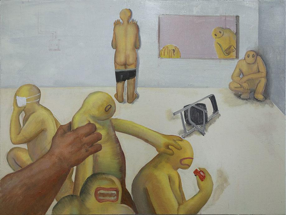 <b>Title:</b>Haiyu Yaun<br>Maze<br /><b>Year:</b>2020<br /><b>Medium:</b>Oil on canvas <br /><b>Size:</b>80 x 60 cm
