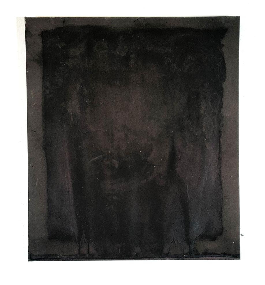 <b>Title:</b>Jukka Virkkunen<br>Spectral Rectangle II<br /><b>Year:</b>2019<br /><b>Medium:</b> Spray paint, acrylicand debris from the studio on canvas <br /><b>Size:</b>70 x 80 cm