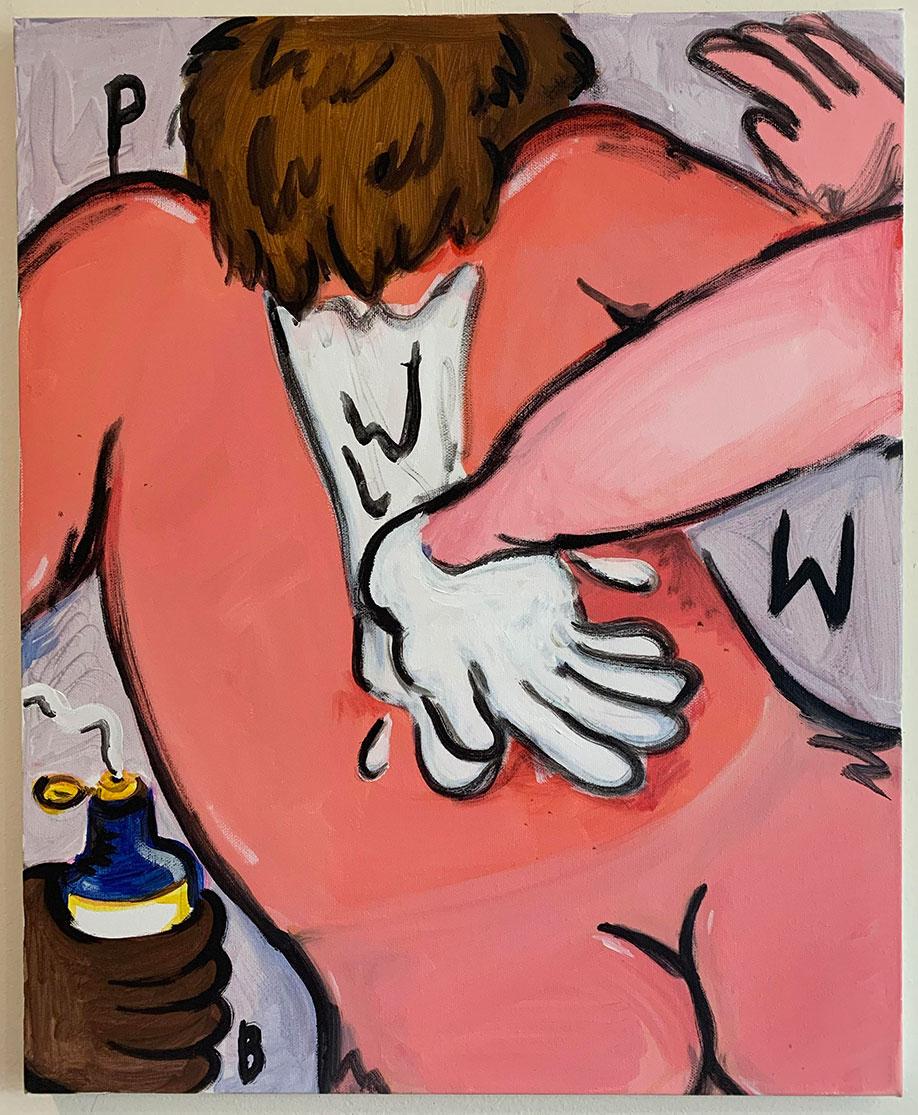 <b>Title:</b>Olivia Sterling<br>Aftersun<br /><b>Year:</b>2020<br /><b>Medium:</b>Acrylic on canvas <br /><b>Size:</b>55.9 x 45.7 cm
