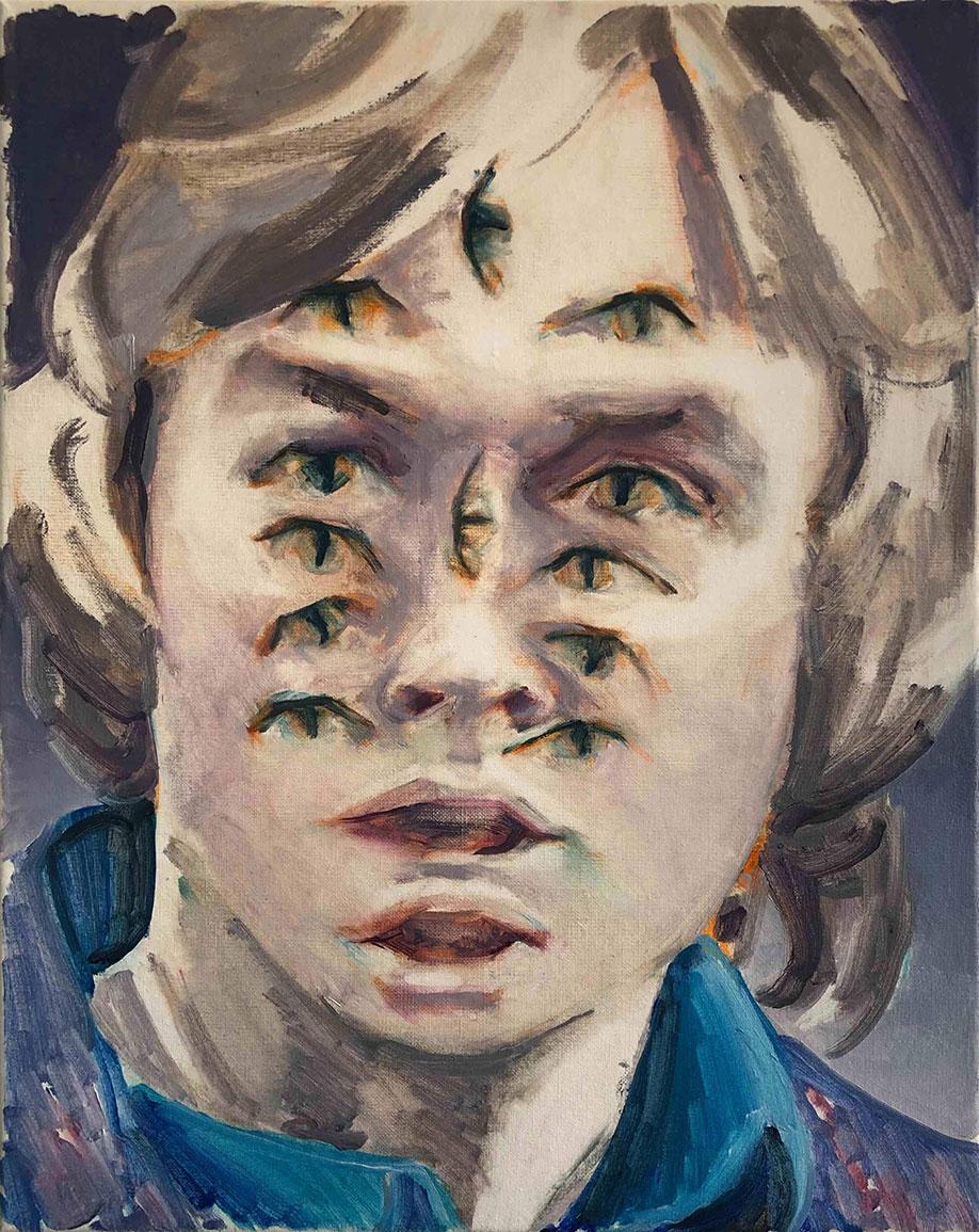 <b>Title:</b>Tom Harker<br> Ick Ar<br /><b>Year:</b>2020<br /><b>Medium:</b>Oil on canvas<br /><b>Size:</b>40 x 50 cm