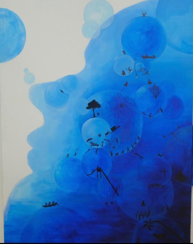 <b>Title:</b>Ye Li<br>Small World<br /><b>Year:</b>2020<br /><b>Medium:</b>Acrylic painting<br /><b>Size:</b>120 x 160 cm